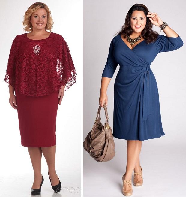 Сшить платье для полной женщины на осень 83