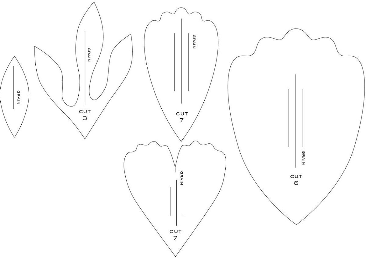 Шаблоны для бумажных цветов своими руками 447