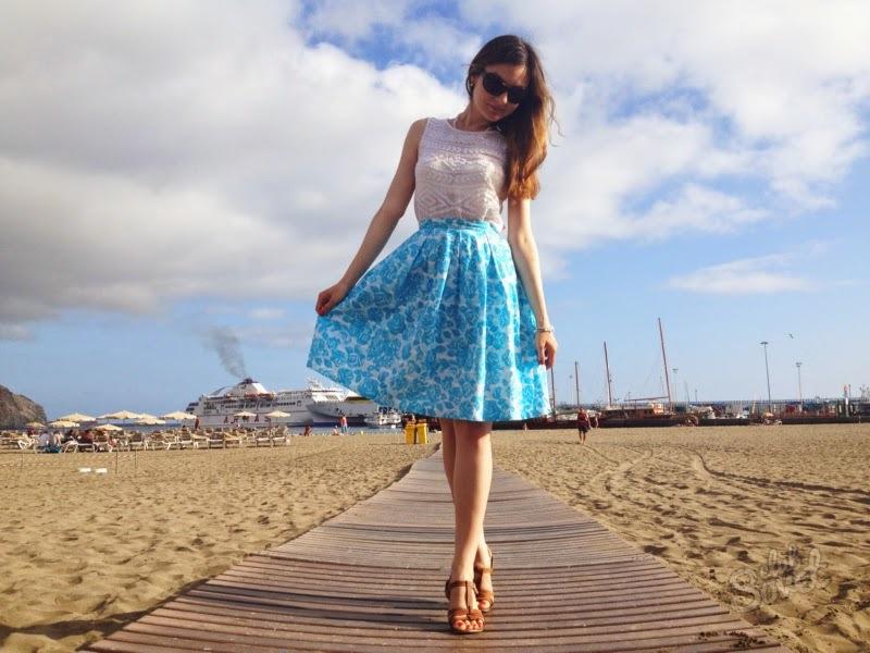 Простая летняя юбка своими руками фото 5